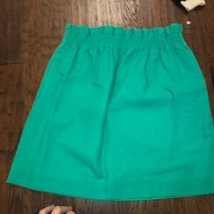 green jcrew skirt!